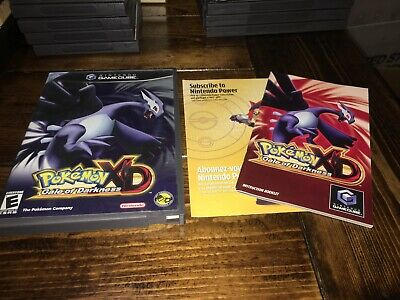 Pokemon XD Gale of Darkness Gamecube case, inserts and manual ONLY