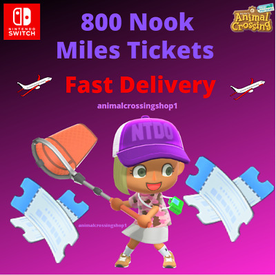 800 Nook Miles Tickets! Animal Crossing New Horizons CHEAPEST - FASTEST DELIVERY