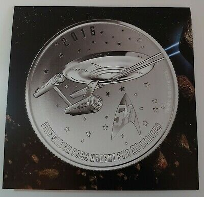 Canada 2016 Star Trek Enterprise $20 Pure Silver Coin