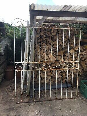 Double Driveway Vintage Reclaimed Wrought Iron Gates Salvage