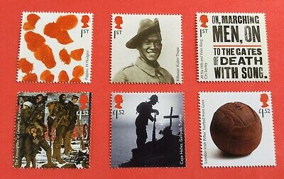 GB 2015 THE GREAT WAR  SET.  SG 3711-3716  MNH /Unmounted Mint  Face Value £6.84