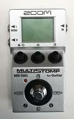 ZOOM MS-50G Multi Stomp Guitar Effects Pedal #7 DHL Express or EMS