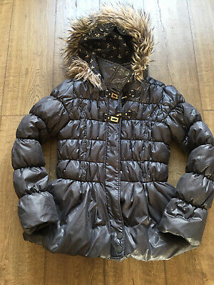 Girls Hooded Padded Coat From Next Age 13/14 Yrs