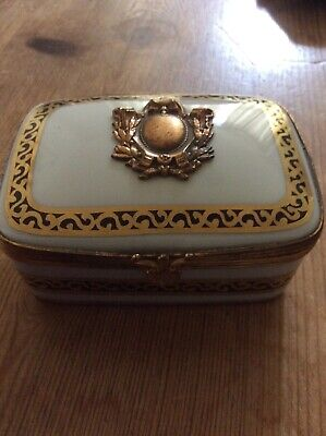 Hand Painted China Trinket Box French Antique Style