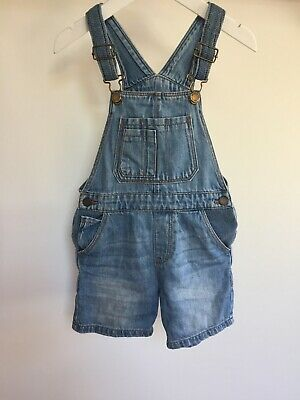 Boys Zara The Overall Soft Denim Shortie Dungarees 2-3 Years Gorgeous ❤️🌈