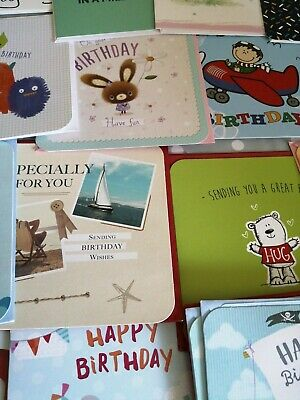 Job Lot Of 40 general birthday cards, all with envelopes with greeting i