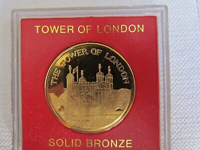 Tower of London Solid Bronze Coin / Medallion