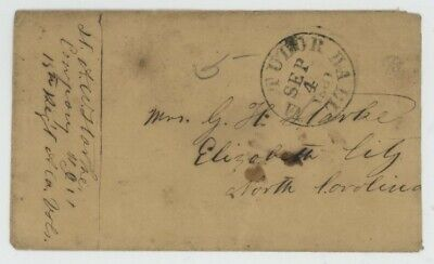 Mr Fancy Cancel CSA STAMPLESS COVER TUDOR HALL VA 1861 CDS FROM SOLDIER EX-GREEN