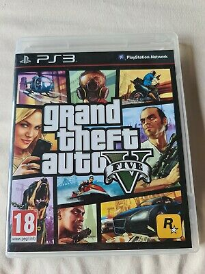 Grand Theft Auto V ( GTA 5 ) Playstation 3 Complete With Map