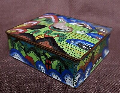 Early 20Thc Chinese Cloisonne Box & Cover
