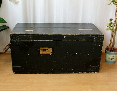 Antique Victorian Joiners Chest Trunk