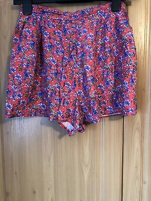 Girls New Look 915 Generation Age 14 Red Floral High Waist Comfy Shorts