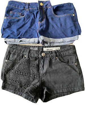 Two Pairs Of Girls Denim Shorts from New Look Age 11 To 12 Years