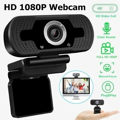 Webcam HD 1080P Auto Focusing Web Camera For PC Laptop Desktop With Microphone A