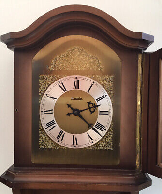 Vintage Hermle Chain Driven Double Weight Chiming Wall Clock.
