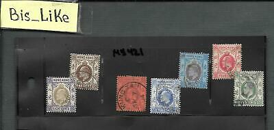 BIS_LIKE:7 stamps GB Col. Hong Kong used LOT MY02-421