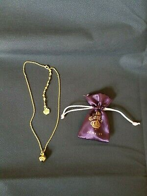 Snow White poison apple necklace Disney couture jewelry color gold