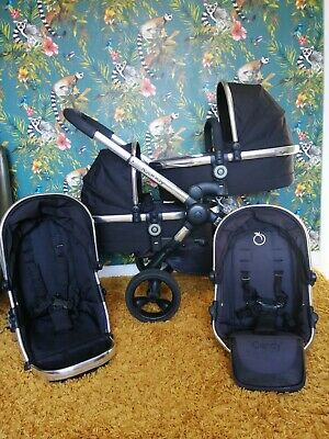 iCandy Peach 3 Blossom Black Magic Pushchair Double / Twin Seat Stroller