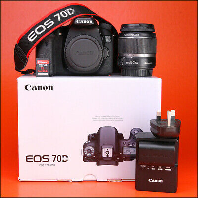 Canon EOS 70D DSLR Camera +18-55mm Zoom Lens kit  + Battery/Charger 13,197 Shots