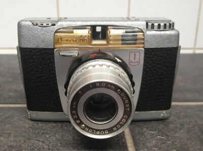 Rare Italian vintage Durst 66 80mm color duplon camera and case. (1956)