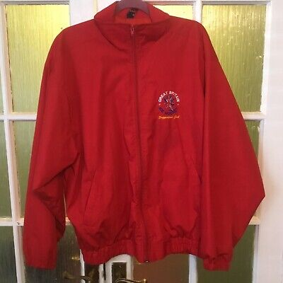 Great Britain Ice Hockey supporters club red jacket