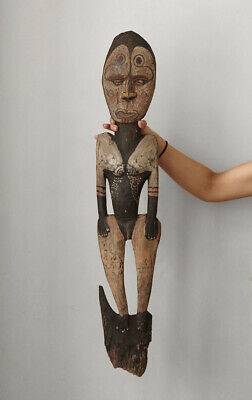 Old NEW GUINEA ceremonial hook sculpture, outstanding piece