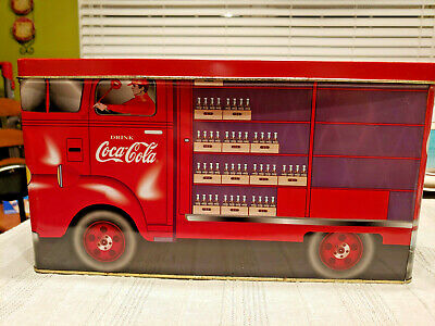 Vintage Collectible 1997 Coca-Cola Route Truck Tin Container