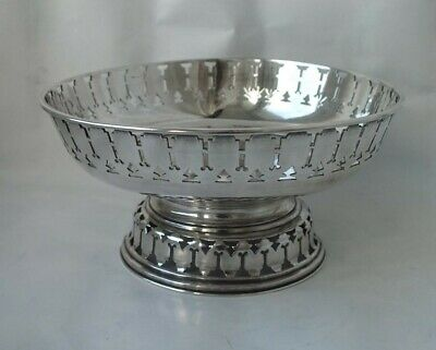 Antique Chinese Solid Silver Dish/ Bowl c. 1900/ Dia 15 cm/ 337 g