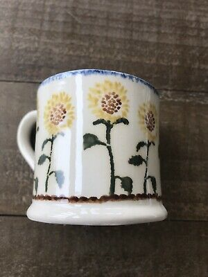 Brixton Pottery Small Mug - Sunflower Design - Never Used