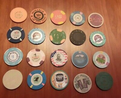 Lot of 20 Collectible Casino Chips