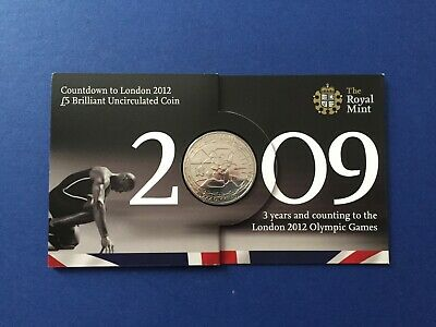 Royal Mint Countdown to London 2012, 2009 £5 Coin brilliant uncirculated