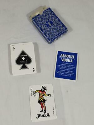 ABSOLUT VODKA PLAYING CARDS with RECIPES Unused Collectible Rare