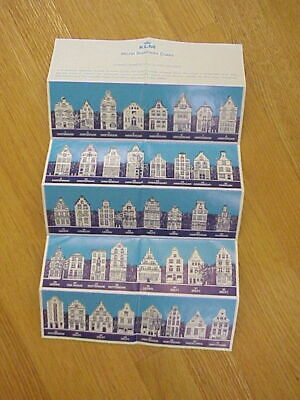 KLM Old Dutch Houses Collection Brochure Blue Delft Amsterdam 1-82