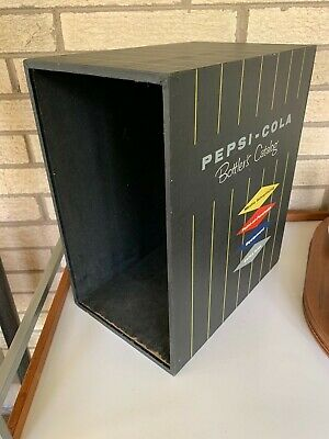 Vintage 60s Pepsi Cola Bottlers Catalog Wooden Promo Advertising Box Crate LP
