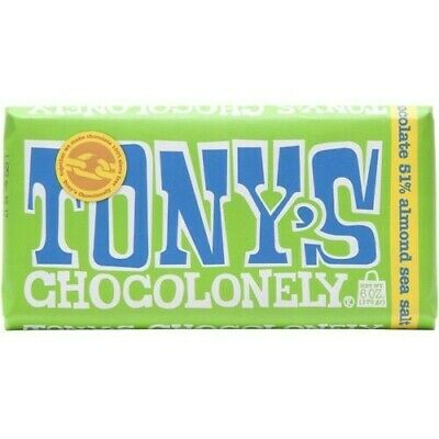 Tony's Chocolonely 100% Slave Free Dark 52% Almond Sea Salt 180G