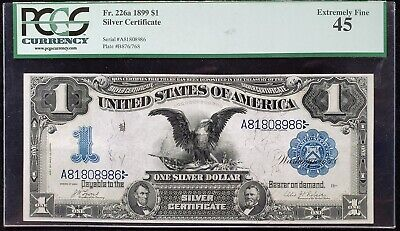 1899 $1 Silver Certificate FR226A Date Below in VF45 - Very Attractive! PCGS