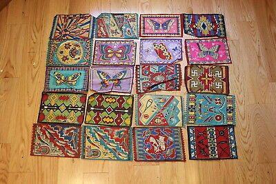 20 diff. 1910's large tobacco felts (Indian designs, butterflies)