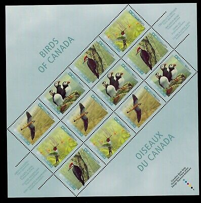 Canada Stamps #1594iii Souvenir Sheet or Pane of 12 Stamps Birds MNH