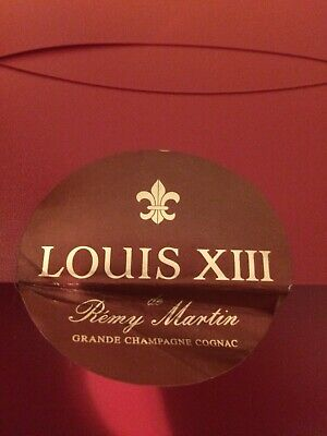 Original Empty Outer Case Louis xiii Crystal Decanter Remy Martin