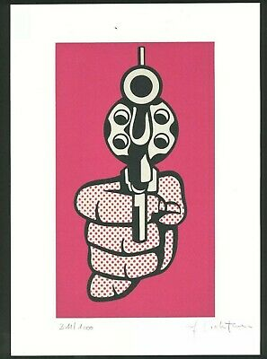 ROY LICHTENSTEIN - Pistol 1968 LE/1000 offset lithography hand signed