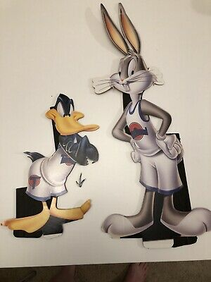 Bugs Bunny And Daffy Standee Cutout From Space Jam Movie