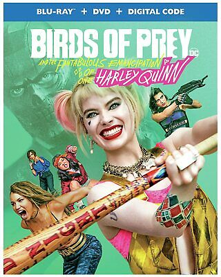 "BIRDS OF PREY (Blu-ray + DVD + Digital) 5-12-20 NEW and ""SEALED"""