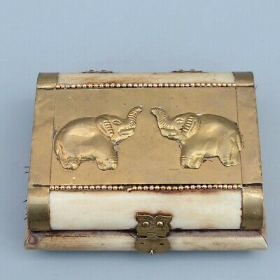 Collectable China Old Bronze Armour 0x B0ne Hand-Carved Elephant Noble Jewel Box