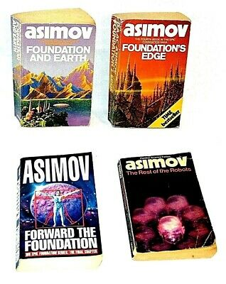 4 x Isaac Asimov Paperback Books Bundle Science Fiction Foundation And Earth