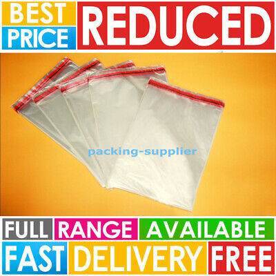 Clear Cellophane Bags Small Large Self Seal Cello Gift Sweet Party Cards Packing