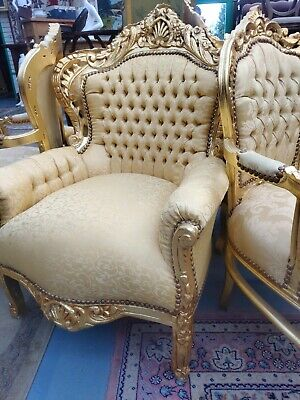Gold French Armchair