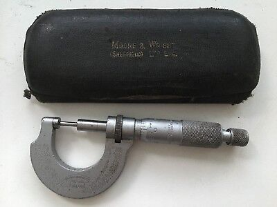 Moore & Wright Micrometer No 961 in case