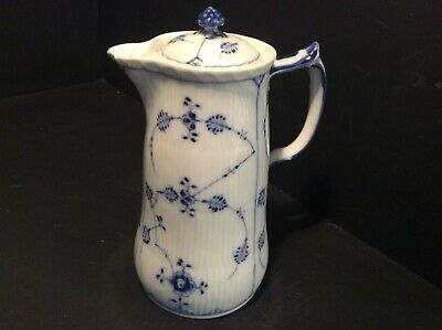 "Royal Copenhagen Blue Fluted Half Lace ?? Number 1/33 Coffee Pot 7"" Some Damage"