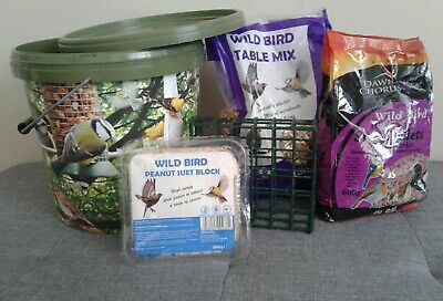 bird food and container