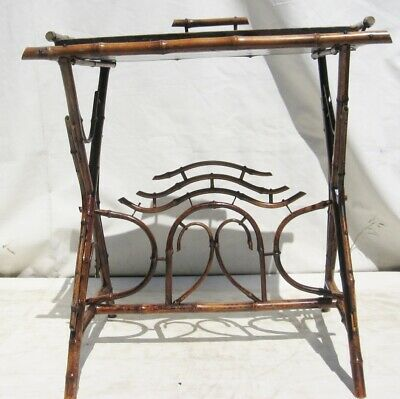 A Vintage Bamboo Butlers Table Tray